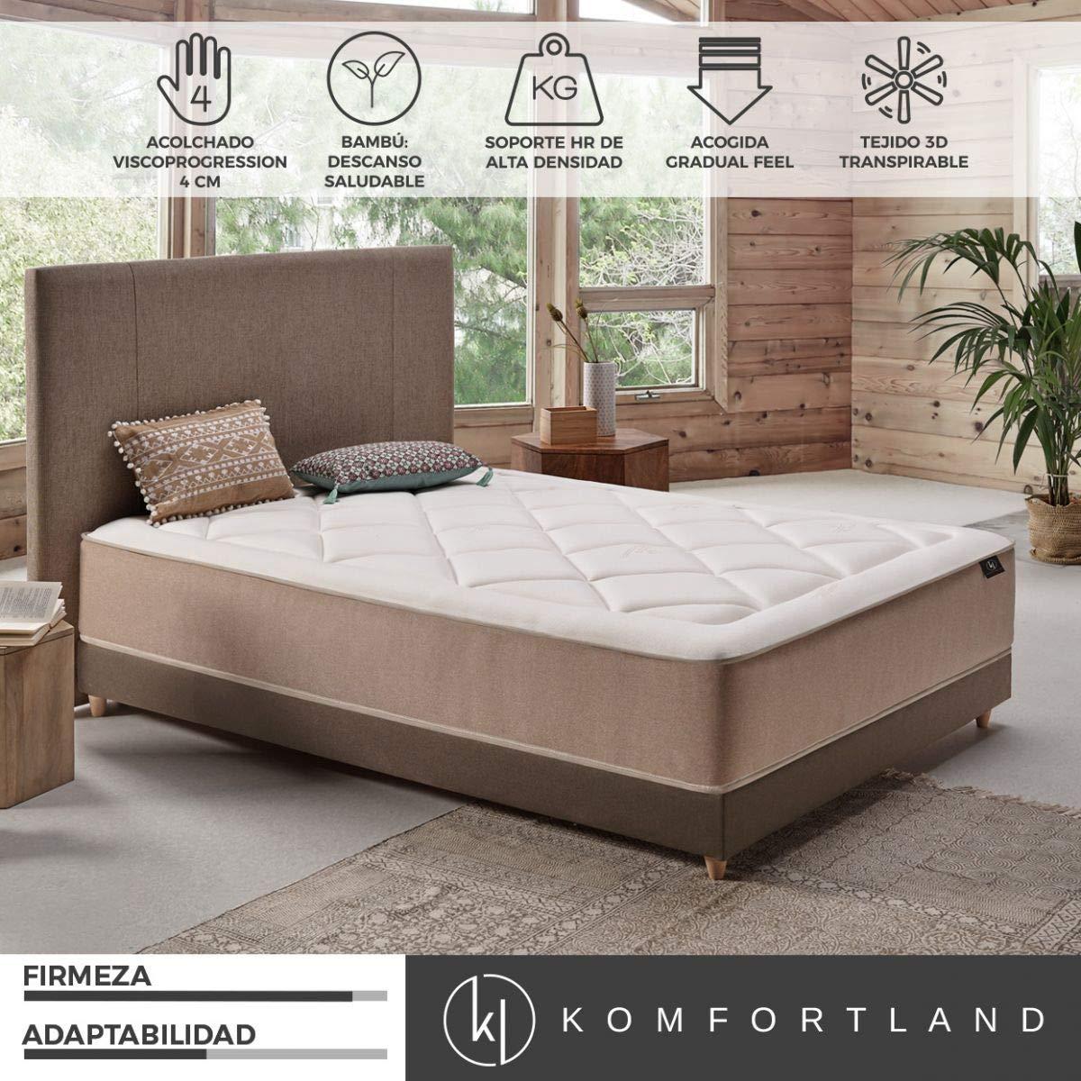 Komfortland Colchón 135x190 viscoelástico Naturcell de Altura 30 cm, 4 cm de ViscoProgression Bambú: Amazon.es: Hogar
