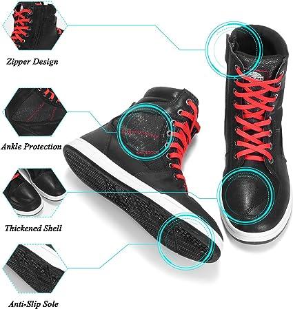 Scarpe da Moto Casual Antiscivolo Scarpe da Motocross BORLENI Stivali da Moto per Uomo