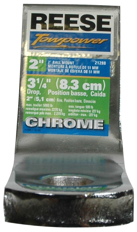 Reese Towpower 21289 5.25 Drop Chrome Class III//IV Ball Mount