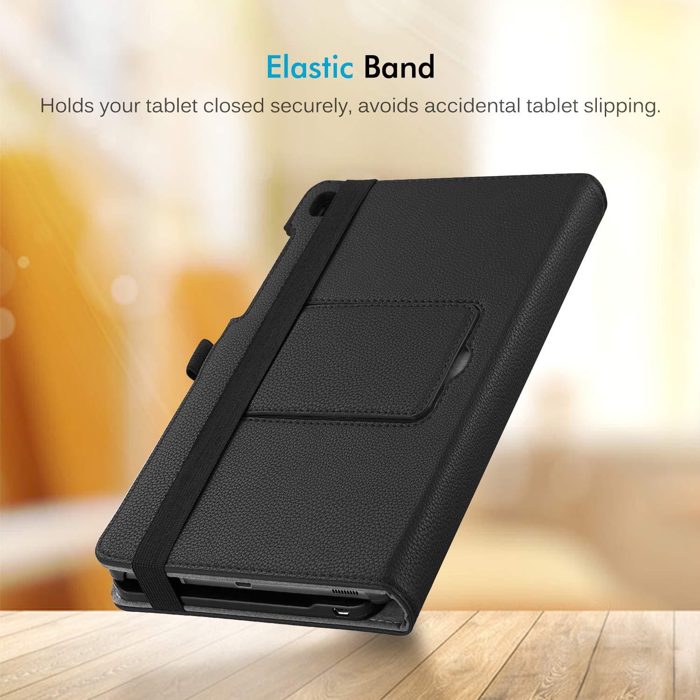 extra/íble Teclado inal/ámbrico Bluetooth *Schwarz Fintie Funda con Teclado Samsung Galaxy Tab S5e 10.5 SM-T720//T725 2019 de Piel sint/ética con funci/ón Atril