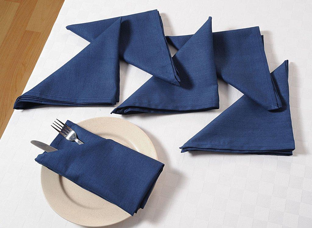 Yuga Plain Dinner Napkins Set 100/% Cotton Table Linen Napkins Set of 6 Pcs 19 X 19 Inches