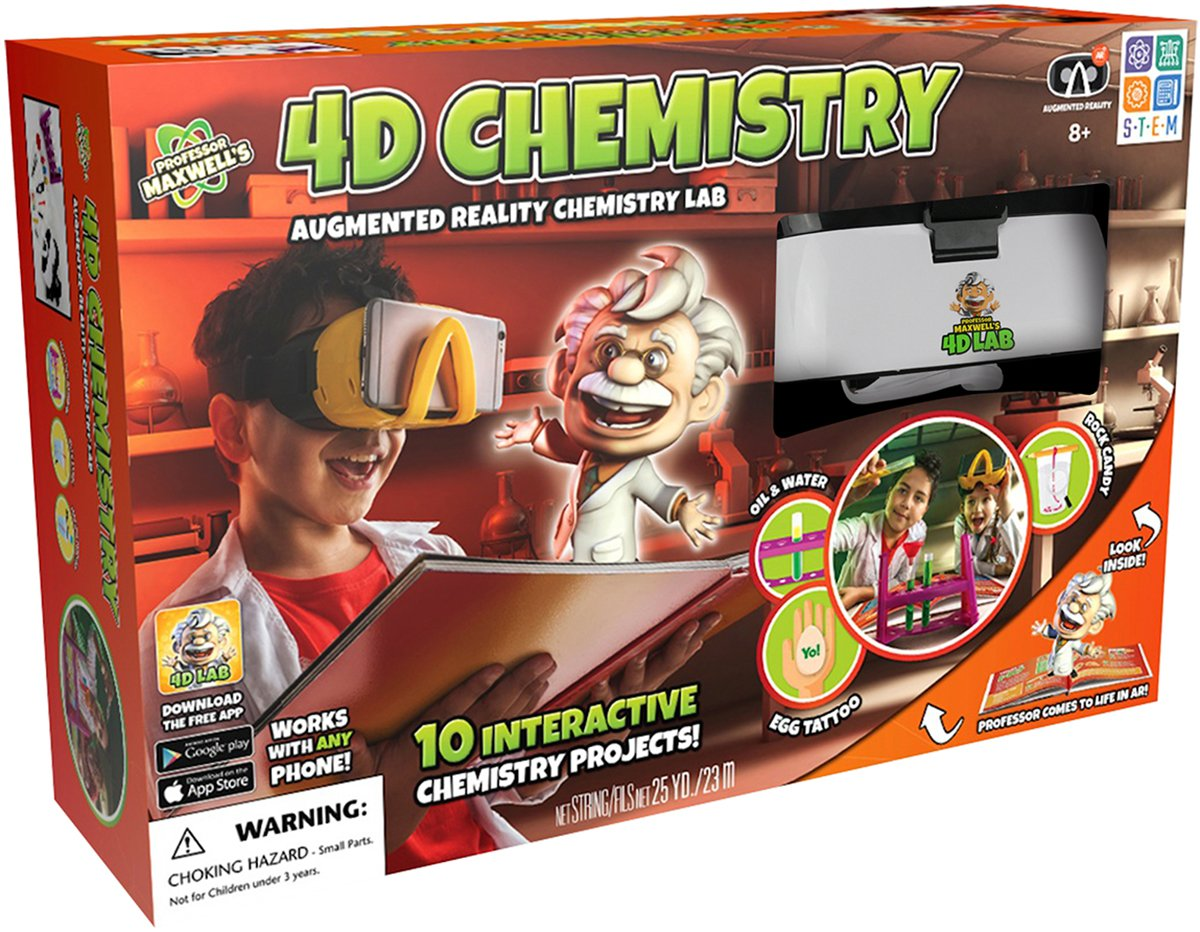 Professor Maxwell's 4D Augmented Reality Science Kit – Chemistry