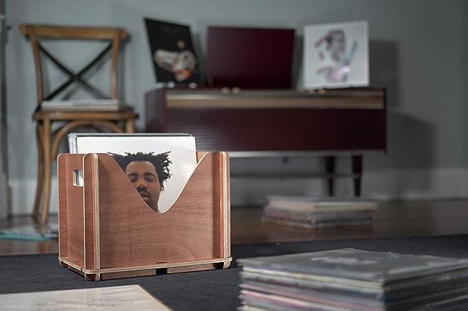 Amazon.com: Soporte para discos de vinilo con capacidad para ...