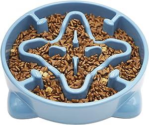 Vannon Slow Feeder Dog Bowls Anti-Choking Non Toxic Feeding Dish 2pack Non Slip Durable Dog Puzzle Bowl Bloat Stop Dog Food Bowl for Medium Large Dogs