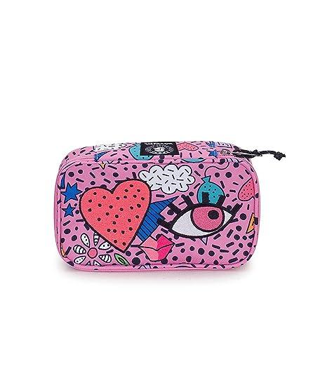 ff3ca37813 Portapenne INVICTA - QUICK CASE FACE - Azalea Pink Rosa - Astuccio porta  penne attrezzato