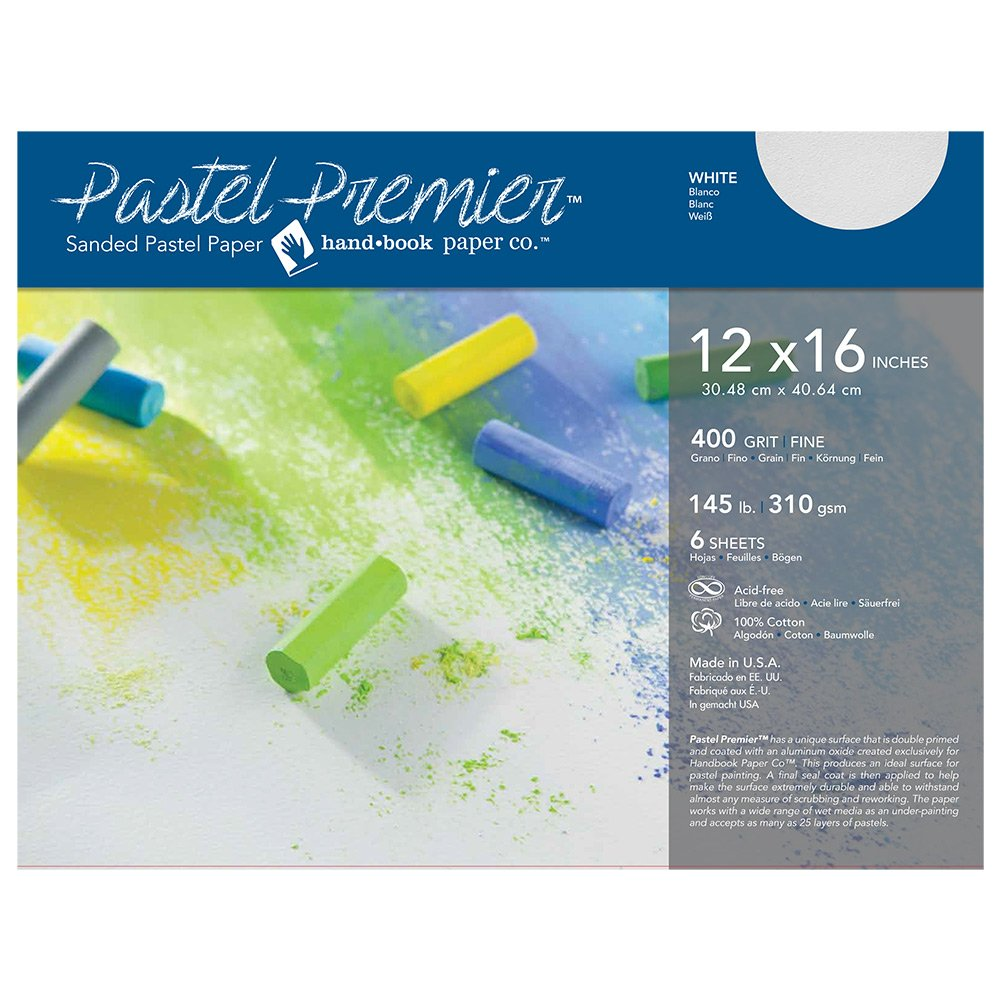 Pastel Premier Paper Fine 12X16 6 Sheet Pk GLOBAL ART MATERIAL 4336941489