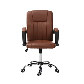 magshion comfortable executive office chair executive task home computer desk chairs brown