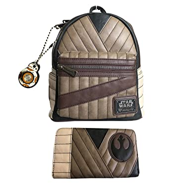 2107c81c0528 Star Wars The Last Jedi Rey Mini Backpack Wallet Set by Loungefly BB8  Keychain