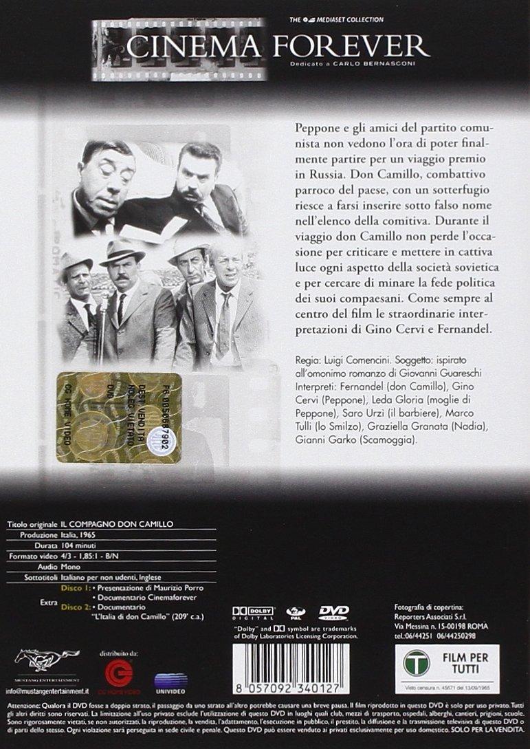 Amazon.com: Don Camillo - Il Compagno Don Camillo (2 Dvd) [Italian Edition]: fernandel, saro urzi, luigi comencini: Movies & TV