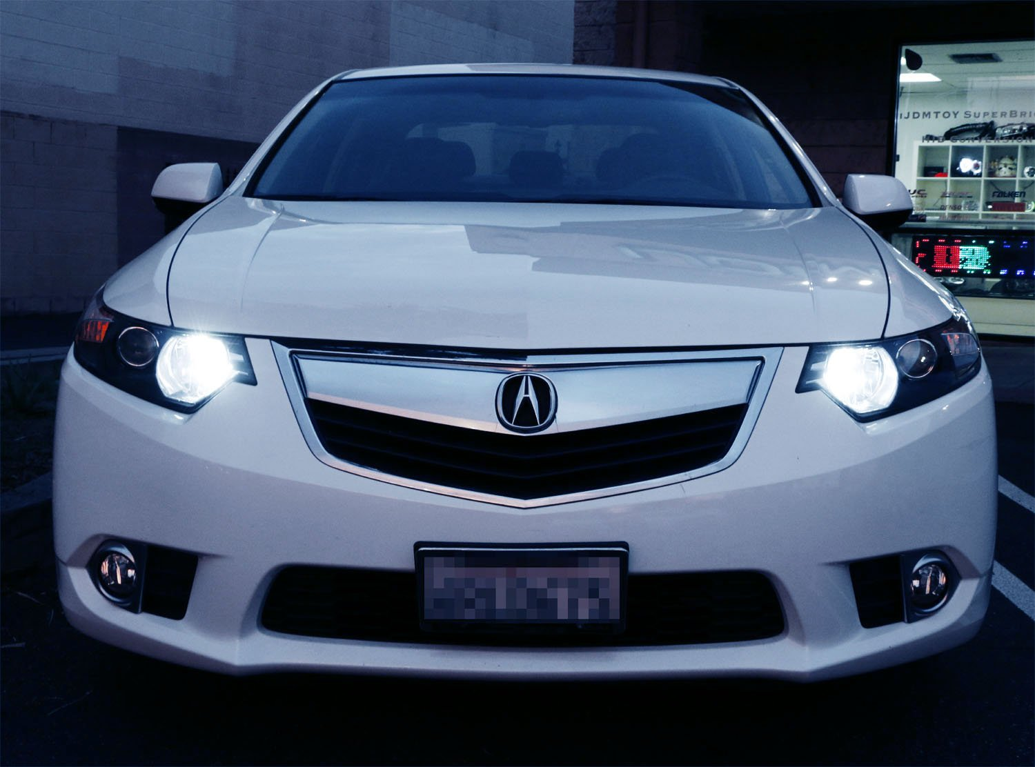 iJDMTOY 8K Blue 80W 16-CREE 9005 LED High Beam Daytime Running Lights Kit Compatible For Acura TSX RDX TL MDX Civic Accord CRZ