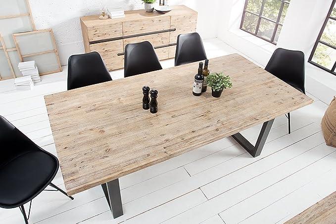Massiver Esstisch WOTAN Akazie 160cm Massivholz Tisch