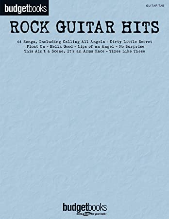 Budgetbooks: Rock Guitar Hits. Sheet Music for Guitar, Lyrics ...