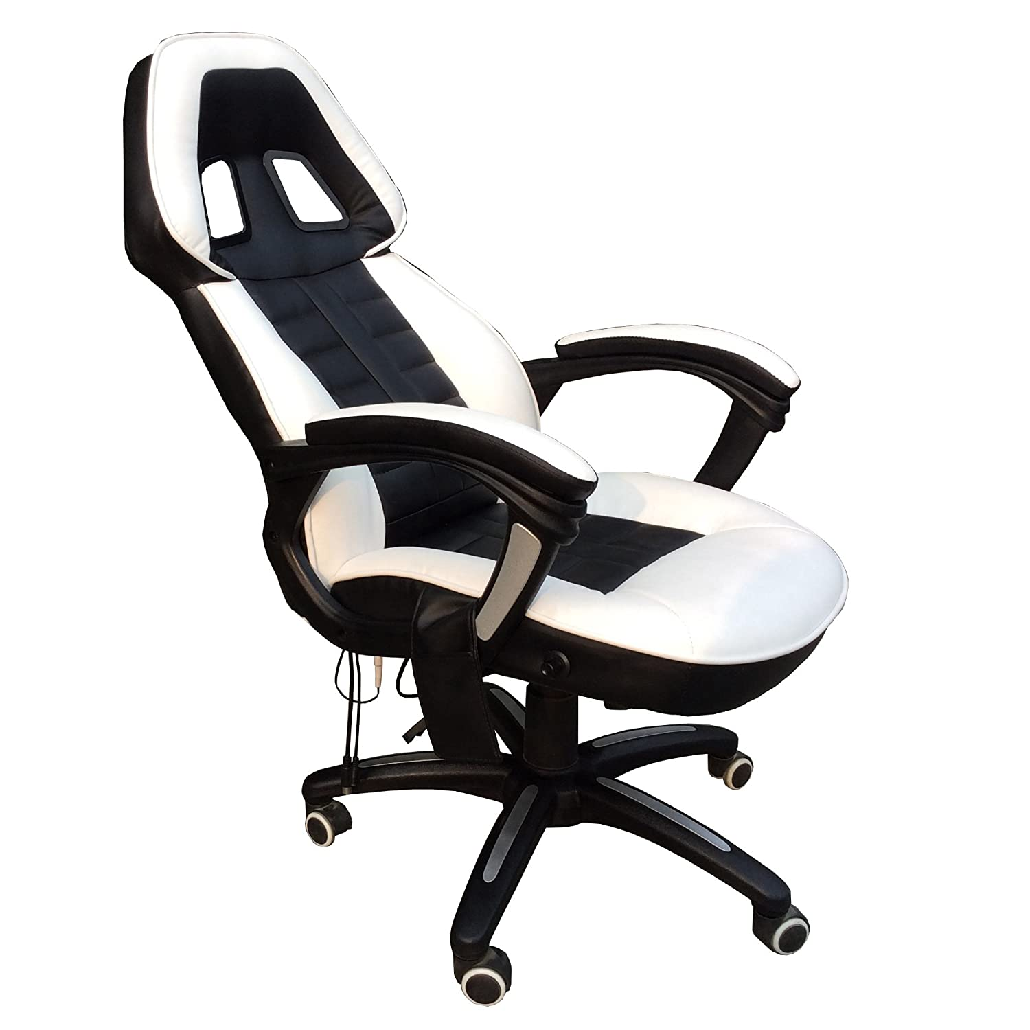 FoxHunter Luxury 6 Point Massage fice puter Chair Reclining
