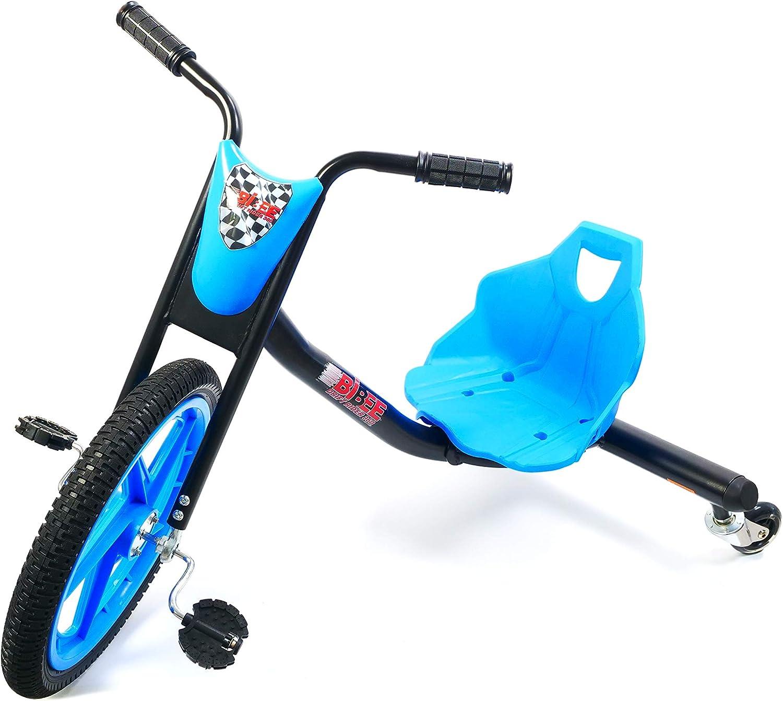 Bibee Drift Rider 360Triciclo Mixta niño, Azul/Negro