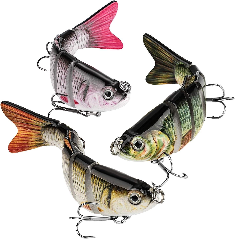 CharmYee Bass Fishing Lures Topwater Freshwater 3 Packs