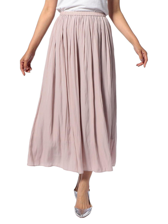 (ノーリーズ) NOLLEY'S 割繊ロング丈ギャザースカート 8-0040-1-06-006 B07CTCR7K8  ベビーピンク 38