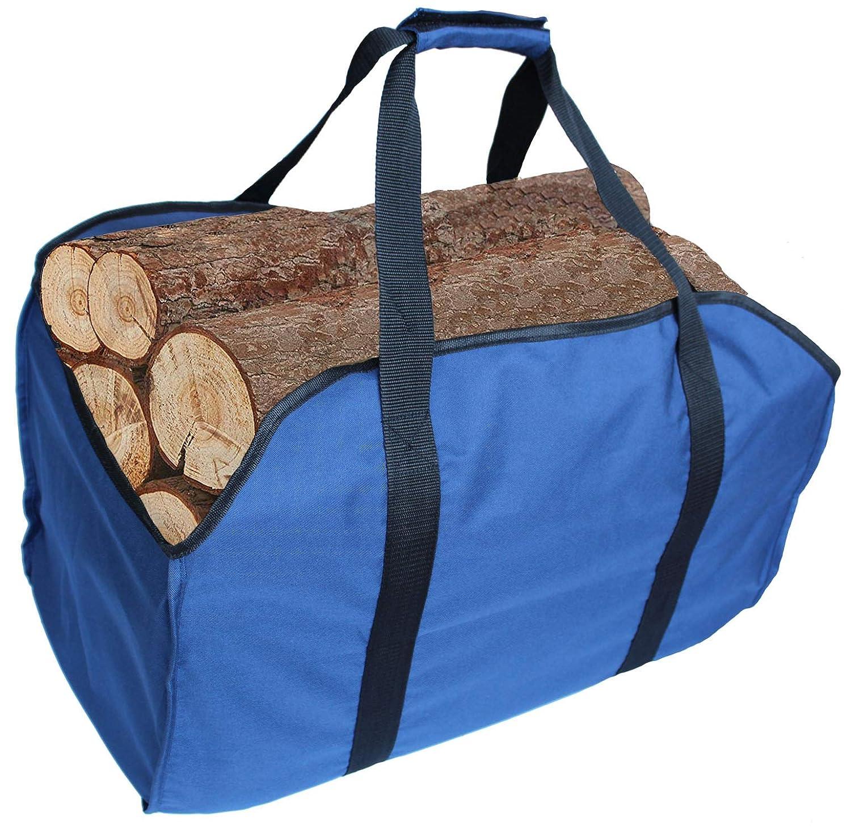 Bolsa para leña de gran calidad para transportar leñas, extragrande, duradera, ideal para chimeneas, estufas de madera, leña, leñas, camping, playas, paisajismo XUQUAN
