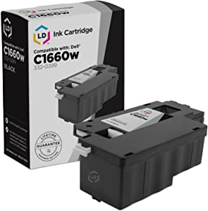 LD Compatible Replacement for Dell 332-0399 4G9HP Black Laser Toner Cartridge for use in Color Laser C1660w