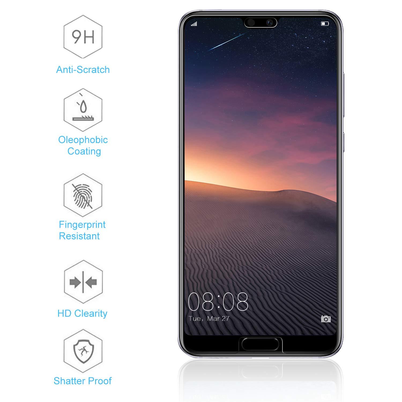 FayTun Cristal Templado para Huawei P20,Protector de Pantalla para ...