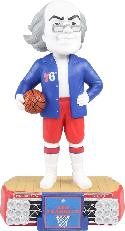 Amazon Com Foco Ben Franklin Philadelphia 76ers Ben Franklin Mascot Bobblehead Nba Sports Outdoors