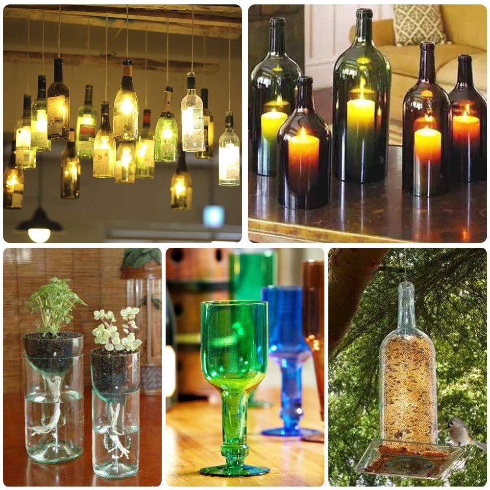 DIY Bottle Cutting Tool for Wine Beer Champagne Bottles Lampshade Flowerpot Vases Making Ritioner Glass Bottle Cutter