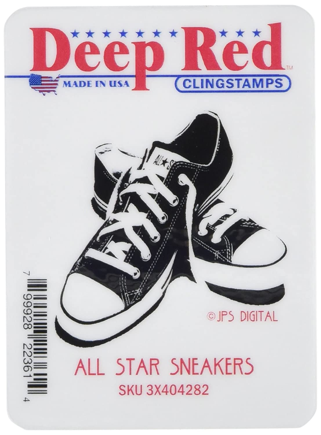 Deep Red Stamps All Star Sneakers Rubber Stamp