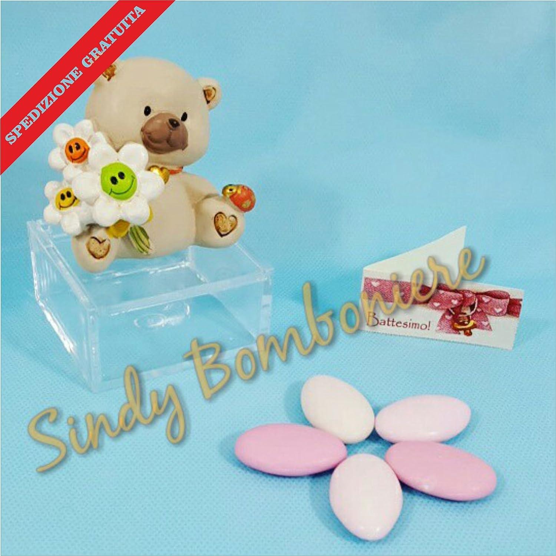 24 Geschenke Bär Blumen Plexiglas Mädchen + Karten + Confetti Geburt Taufe 1 Geburtstag
