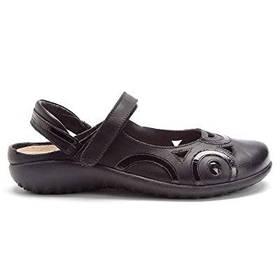Naot Footwear Rongo, Jet Black Patent Leather, 37 (US Women's 6) M | Flats