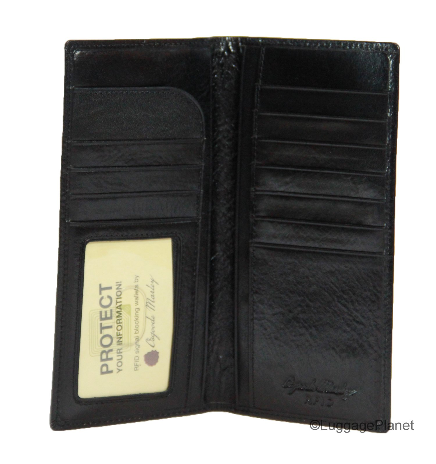 Osgoode Marley Sienna Collection Coat Pocket Mens RFID Leather Wallet (Black)