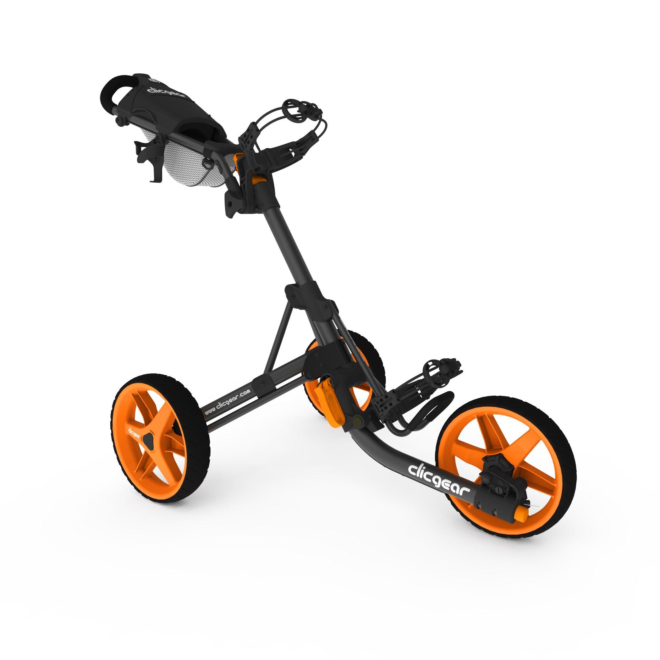 Clicgear Model 3.5+ | 3-Wheel Golf Push Cart  (Charcoal/Orange) by Clicgear