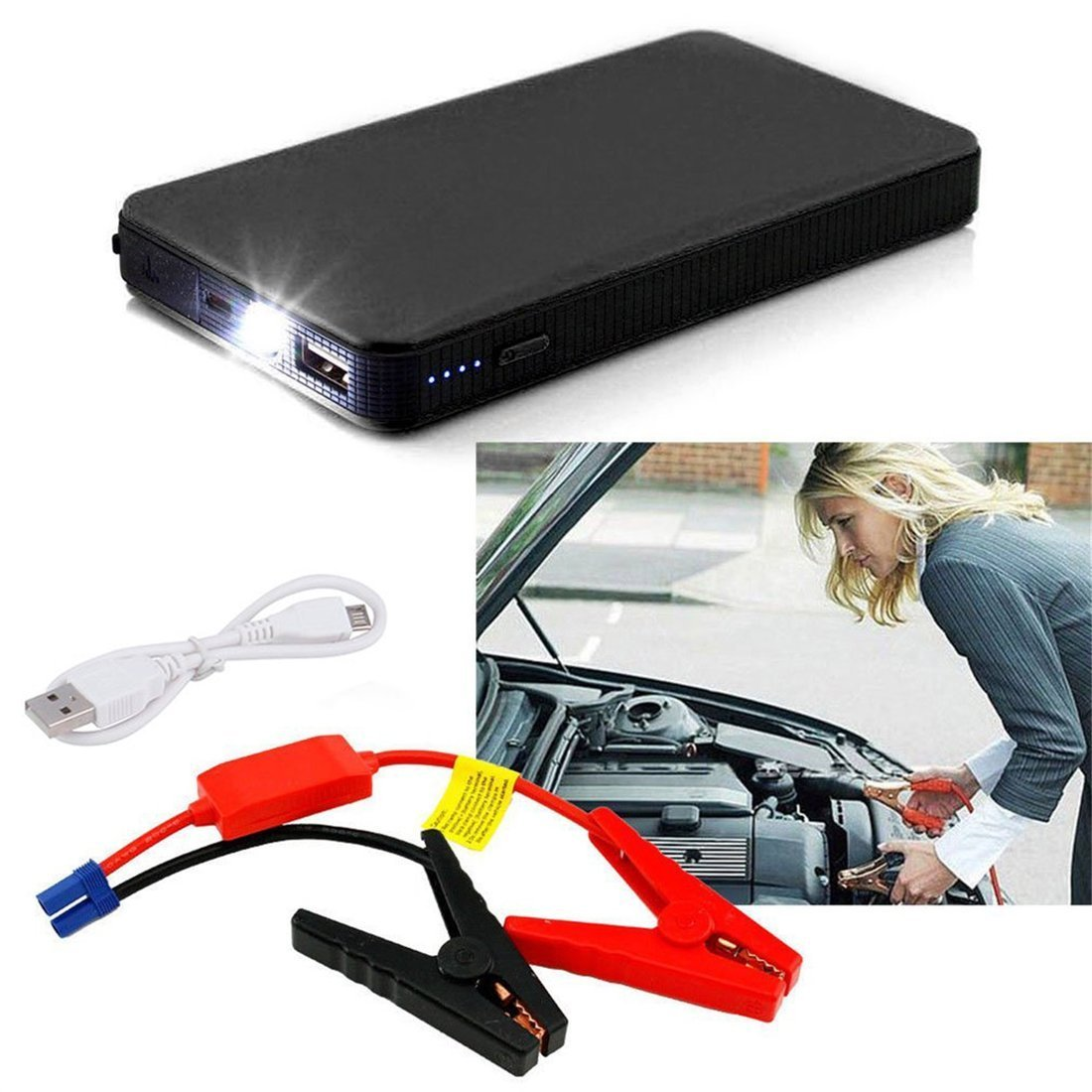 12V 20000mAh Multifunctional Car Jump Starter Power Booster Battery Charger Dailyinshop