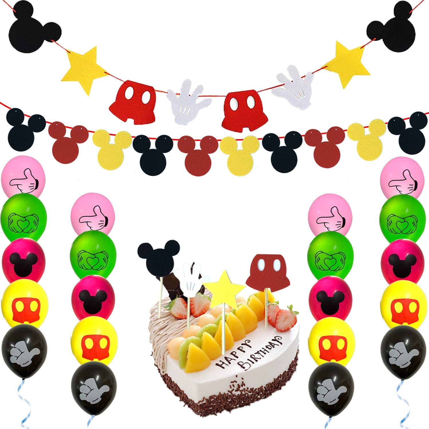 Admirable Mickey Mouse Party Supplies Banner Decorations Kit 2 Mickey Mouse Funny Birthday Cards Online Inifofree Goldxyz