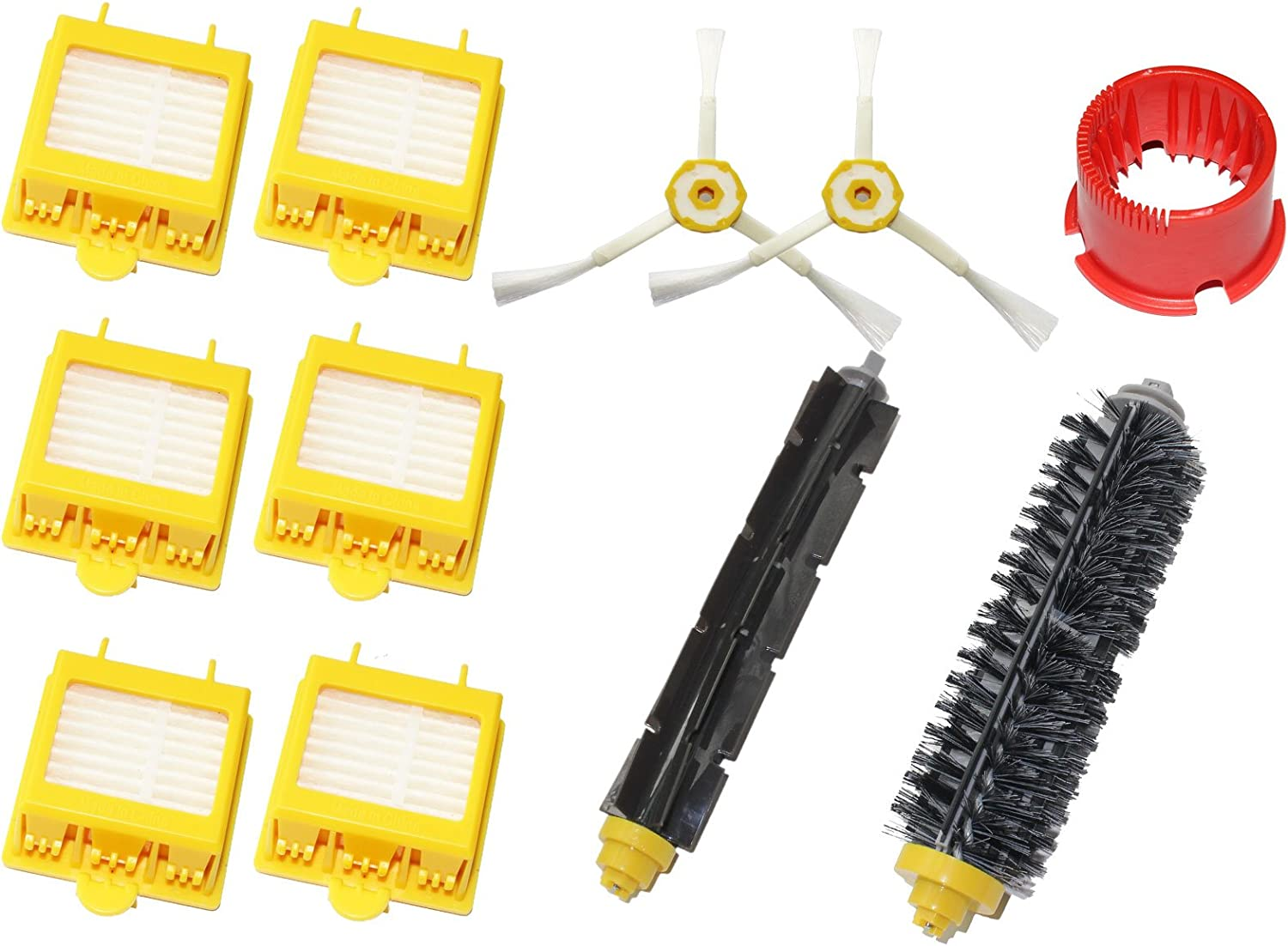 Upstart Battery Replacement for iRobot Roomba 700 Series Vacuum Cleaner Accessory Kit - Kit Includes: 6 Filters, 2 Side Brushes, 1 Flexible Beater Brush, 1 Bristle Brush & 1 Cleaning Tool