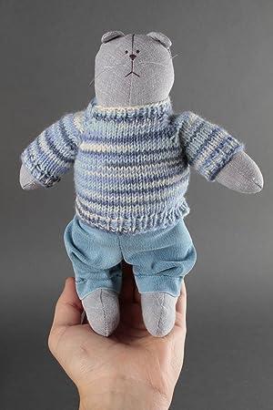 Animal de peluche hecho a mano juguete de tela regalo para ninos Gato divertido