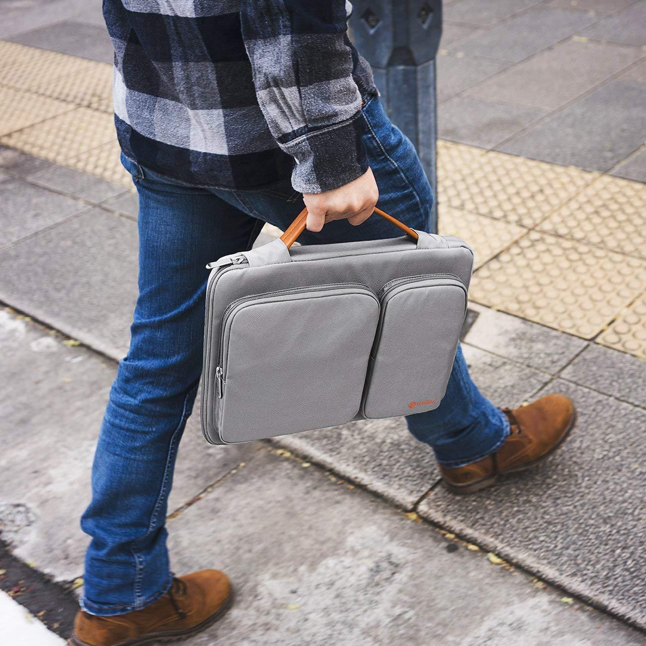 tomtoc Funda para port/átil Compatible MacBook Air de 2018 de 13 Pulgadas con Pantalla Retina MacBook Pro de 13 Pulgadas Malet/ín para Port/átil Resistente Al Agua Surface Pro 6