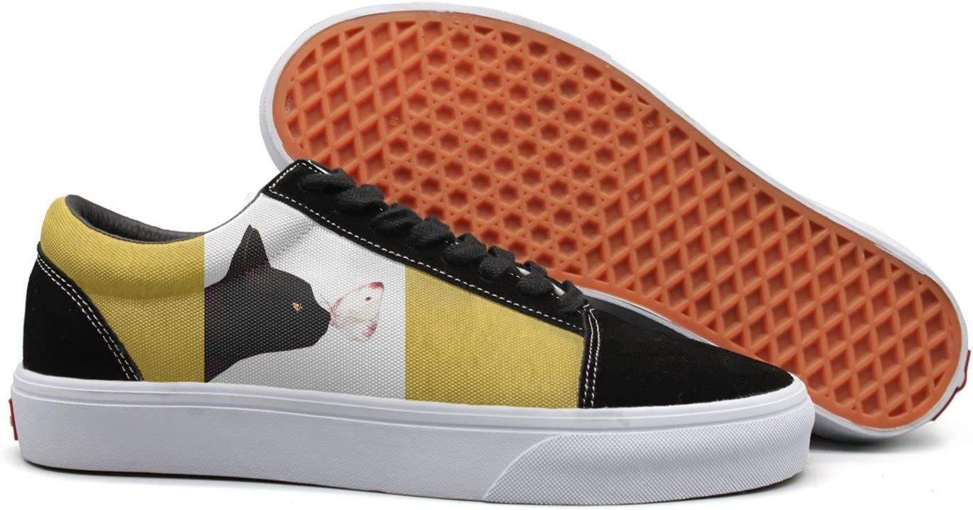 Butterfly stay in black cat nose Womens Casual Sneaker Lace Up Shoe