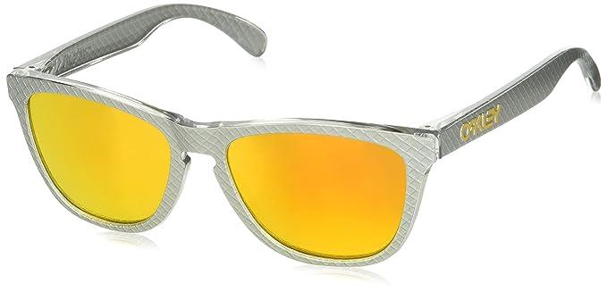 Oakley Frogskins 9013C1 55, Gafas de Sol para Hombre, Plateado (Checkbox Silver)
