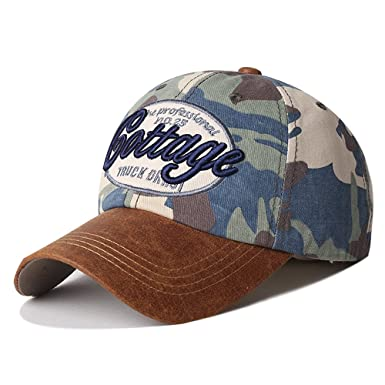 bcab2daee1e VEC Brand Cool Army Camouflage Cap Snapback Hiphop Hat Adjustable Baseball  Cap Sunhat (Army Green