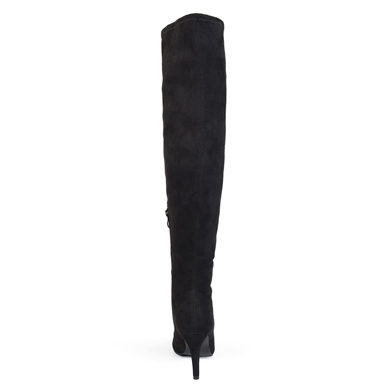 068ab5e5f94 Womens Regular and Wide Calf Vintage Almond Toe Over-The-Knee Boots Black