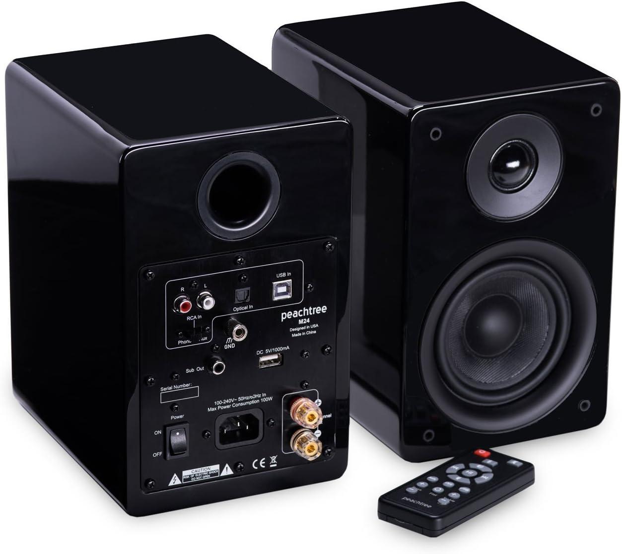 Peachtree Audio M24 Powered Speakers (Pair) (Piano Black)