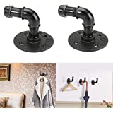 Urban Industrial Wall Mount Wood Storage Shelf Iron Pipe Toilet Paper Holder Roller Restaurant Restroom Bathroom Decoration Bathroom Hardware