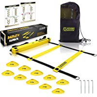 POWER GUIDANCE Agility Ladder (20 Feet) for Speed Agility Training & Quick Footwork Exercise - with 12 Plastic Rungs, 4…