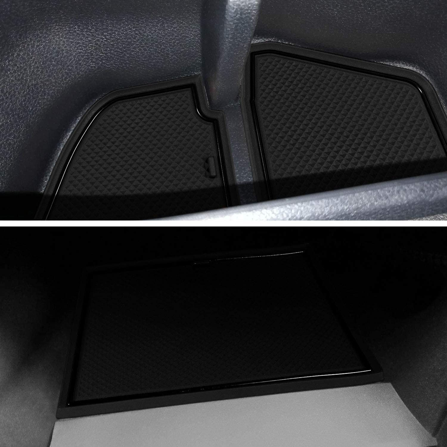 LAIKOU for Subaru Crosstrek 2018-2020 and Subaru Impreza 2017-2020 Custom Liner Accessories Premium Cup Holder Console and Door Pocket Inserts 19-pc Set Solid Black