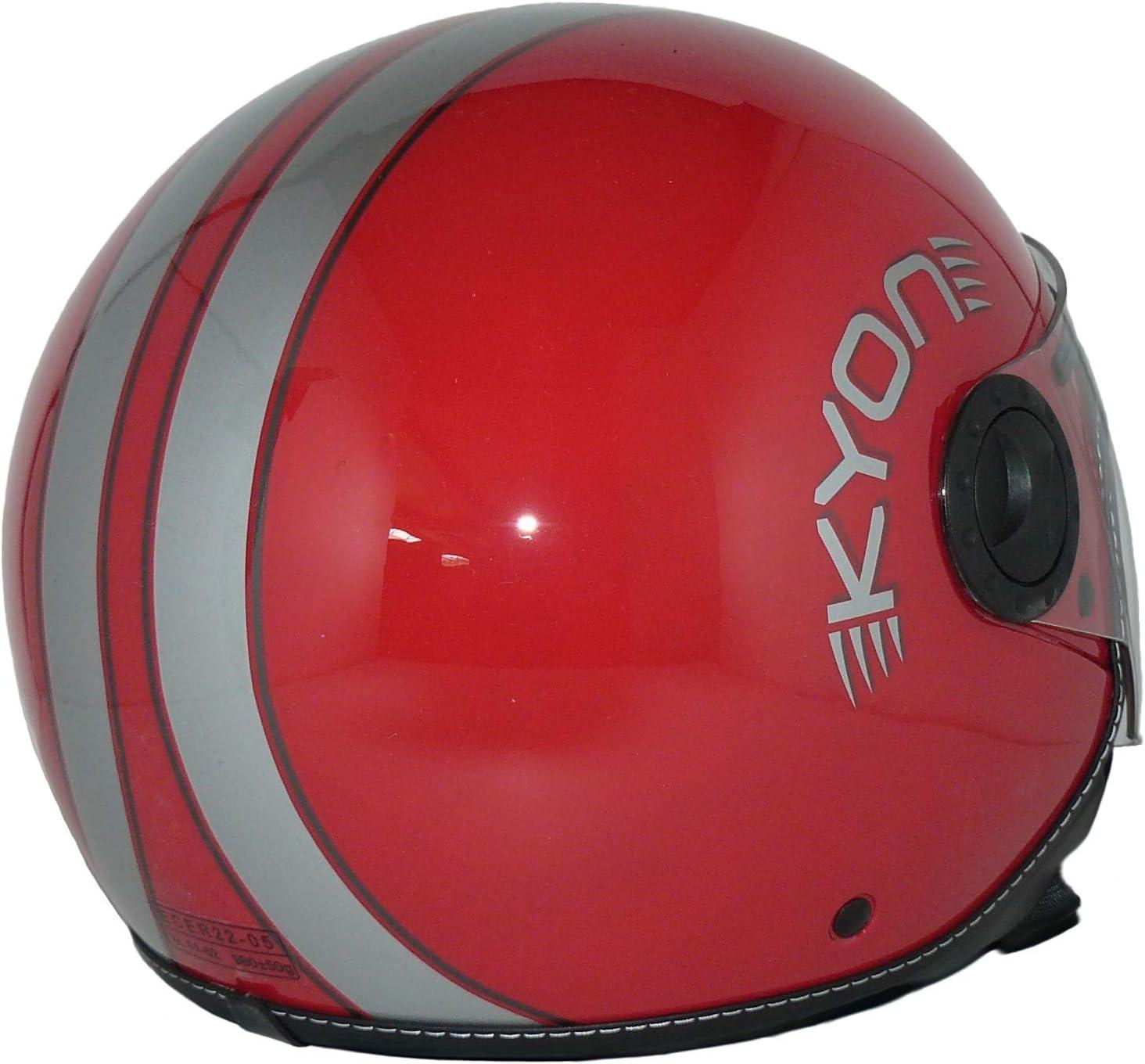 Open face helmet with long visor H710-RT-M