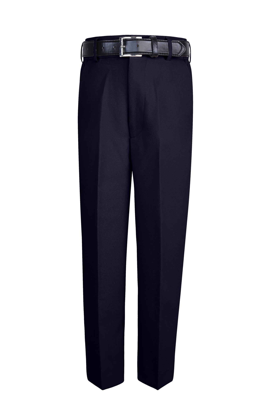 S.H. Churchill & Co. Boy's Comfort Waist Dress Pants and Belt - Navy, 14