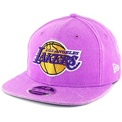 new concept 5635d 21f78 NBA Los Angeles Lakers Rugged Canvas 2 9Fifty of Snapback Cap, One Size,  Purple