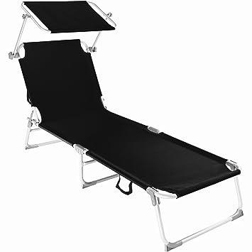 chaise longue de jardin tectake amazon