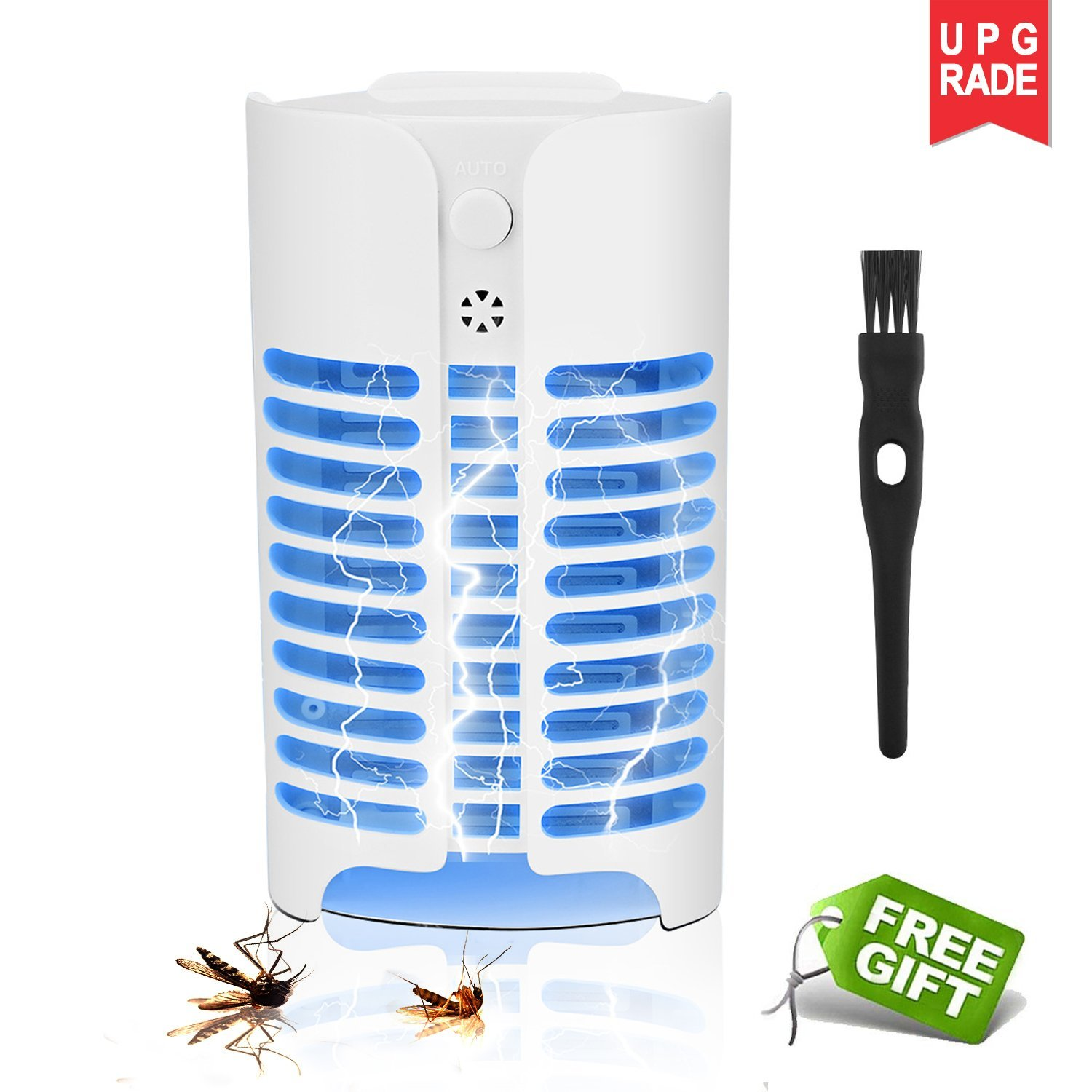 akoboo Indoor Mosquito Killer, Electronic Bug Zapper Night Lamp,Plug-in Insect Trap with Lighting Sensor Control,Eliminates Most Flying Pests for Home&Commercial by akoboo