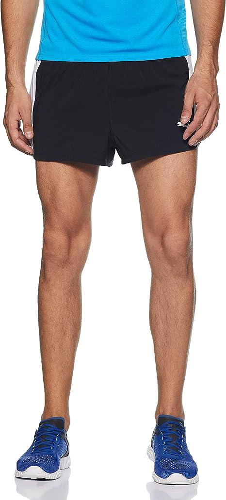Puma Running Herren Cross the Line Split Shorts Männer Kurze Laufhose rot weiß