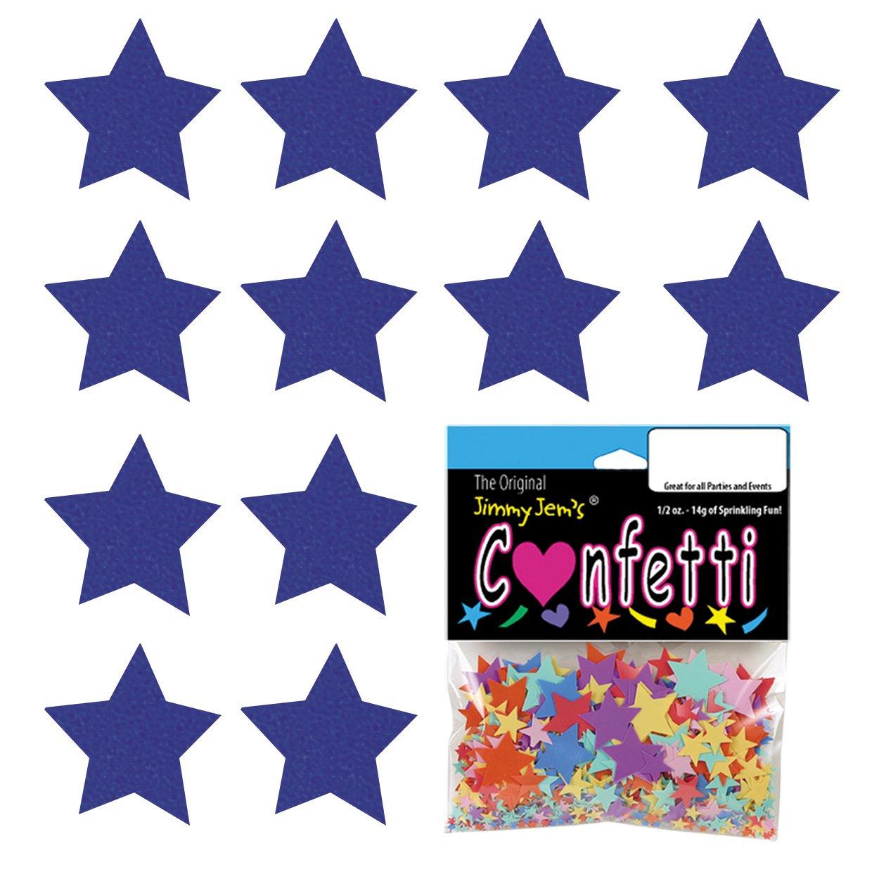 Confetti Star 3/4'' Blue Royal - 8 Half Oz Pouches (4 oz) FREE SHIPPING --- (CCP8623)